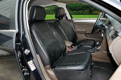 - A153 Bk Leather Like 2 Front Bucket Car Seat Cover Compatible To Toyota Tacoma