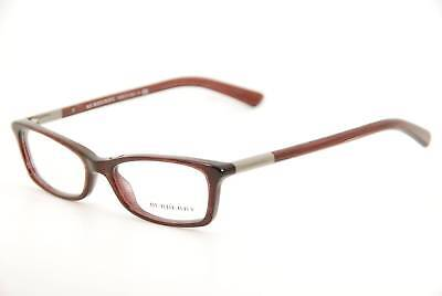 $315 BURBERRY Women BURGUNDY EYEGLASSES FRAMES GLASSES LENS ITALY B 2084 3224 52