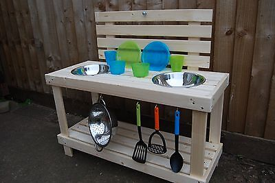 Mud kitchen for outdoor play.