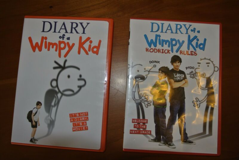 Diary of a Wimpy Kid and Diary of a Wimpy Kid Rodrick Rules DVD's