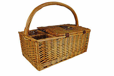 WaldImports Willow Picnic Basket WLDI1392
