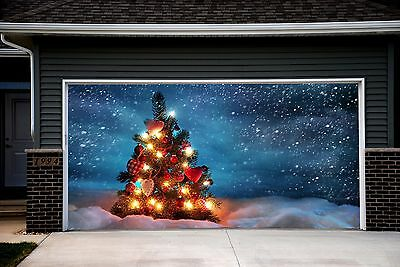 Christmas Garage Door Covers Door Banners Outside House Decor Billboard GD21 - Door Banners