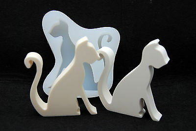 Chic Cat, Silicone Mold Chocolate Polymer Clay Jewelry Soap Melting Wax Resin
