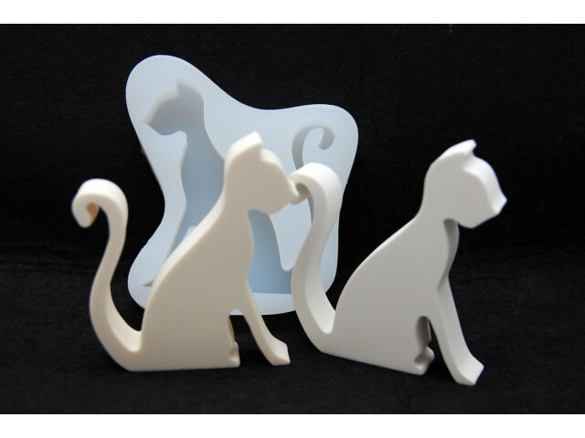 Chic Cat, Silicone Mold Chocolate Polymer Clay Jew