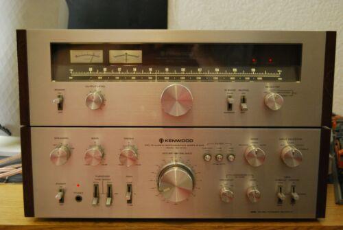 Kenwood KA-8100 Integrated Amplifier & KT-7500 FM AM Tuner w OEM wood panels