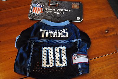 Navy Dog Football Jersey - New NFL Tennessee Titans Dog Jersey size XS BOY NAVY BLUE 00 Football Team Pet