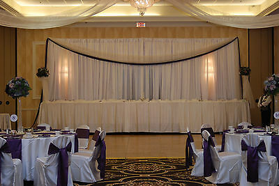 2 CHIFFON DRAPE PANEL WHITE BACKDROP 120
