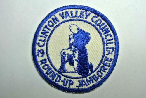 1957 Clinton Valley Council Round-Up Jamboree Pocket Patch - Boy Scouts - BSA