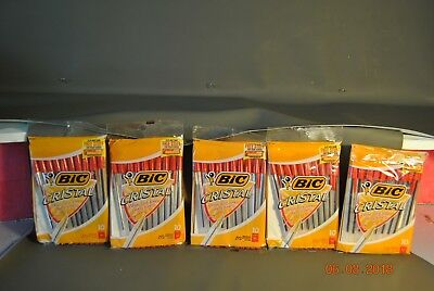Bic Cristal Ball Pen Medium Point 1.0 Mm Red 10-count 5 Packages 50 Pens