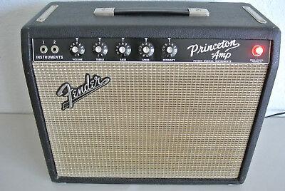 1965 FENDER PRINCETON BLACK FACE GUITAR AMPLIFIER in EXCELLENT CONDITION! #A881