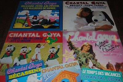 "LOT 4 X LP VINYL *CHANTAL GOYA* + 3 X SINGLE 7"" DISQUES 33/45 TOURS"