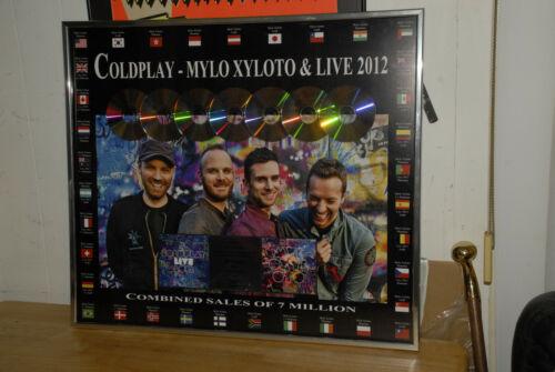 Coldplay worldwide platium LP record award Mylo xyloto live 2012 David Holmes