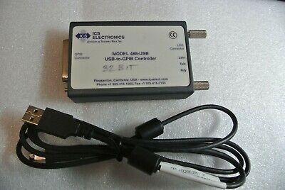 Ics Electronics 488-usb Gpib Ieee.488 Controller Usb Interface Adapter 32bit