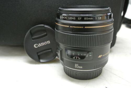 CANON EF 85mm 1:1.8 ULTRASONIC LENS w/ Caps **