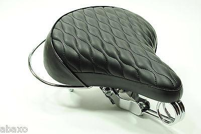 Classic Retro Vintage Replica Bicycle Bike Leather Saddle Seat Black