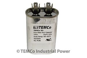 Run-Capacitor-15-MFD-370v-Oval-AC-Electric-Motor-HVAC-370-vac-v-volts-15-uf