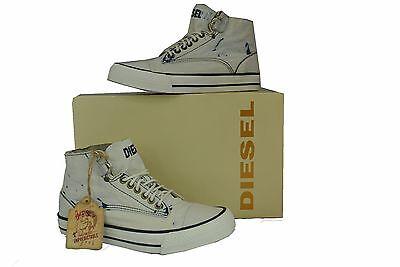 Schuhe Womens Jeans (DIESEL,Damen,Women,Schuhe,Shoes,Sneaker,Jeans,Canvas,NEU,Weiß,Dirty White,Modern)