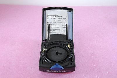 Bruel Kjaer 4393-v Miniature Charge Accelerometer 0.3 Pcms-2 Side Connector