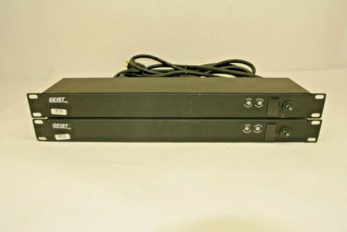 Lot of (2) GEIST 6-Outlet 12A 125VAC Rackmountable 1U Power Strip SPN064-15TL