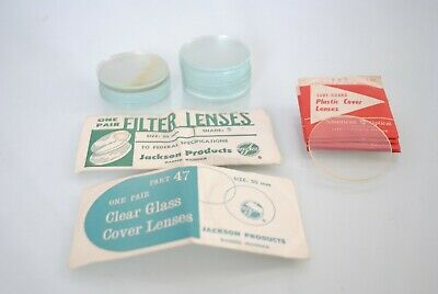 Lot Jackson Vintage Arc Welding Helmet Filter Plate Lens Plastic Cover Lenses