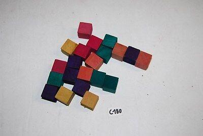 C180 JOUET ANCIEN - ensemble de pièces - carré en bois de couleurs