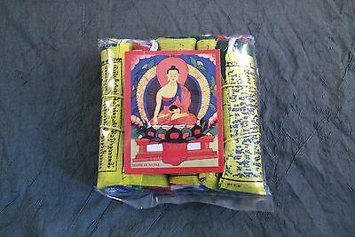 Mini-Gebetsfahne ~ Original Tibet Nepal ~ 90 cm lang ~ 5 Stück (250)