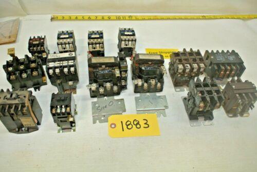 14 pcs. Electrical Controls-Relays (GE-Square D-Gould-Westinghouse-Telemecaniqe)