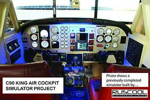 C90 King Air cockpit Flight simulator project Albury Albury Area Preview