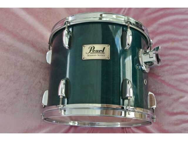 """PEARL SESSION SERIES 12"""" TOM in TEAL BLUE LACQUER to YOUR DRUM SET! LOT #T313"""