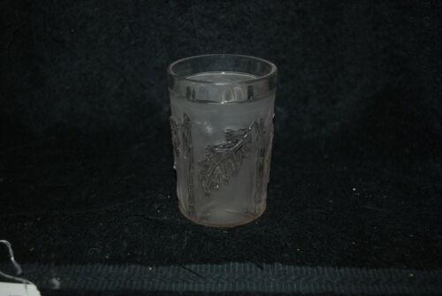 SCARCE VICTORIAN NORTHWOOD EAPG FROSTED ROYAL OAK TUMBLER 1890S