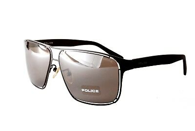 Police Sunglasses Offside 2 S8955 531X Satin Black Grey