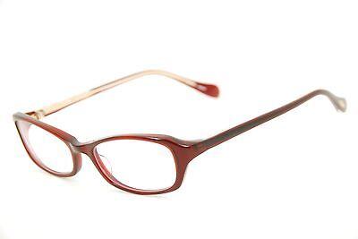 New Authentic Oliver Peoples Marcela SI Dark Red 51mm Frames Eyeglasses RX Japan