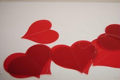 Valentinstag Girlande (Girlande Herzgirlande rot 210 cm Hochzeit Muttertag Geburtstag Feier Kunststoff )