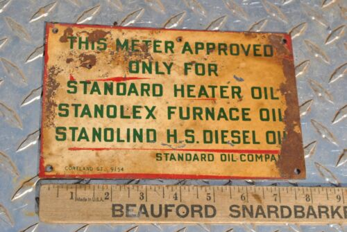 Rare Original 1954 Standard Oil Gasoline Company Original Oil Meter Sign