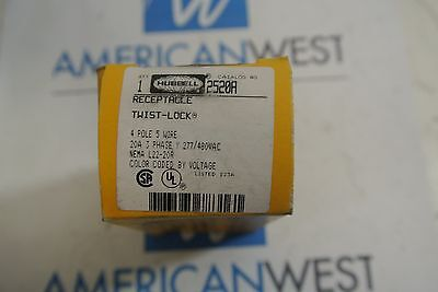 Hubbell 2520a 4p 5w 3p 277480 Twist Lock Receptacle - New In Box
