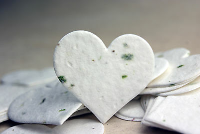 - Green Heart Shape Plantable Flower Seed Chard Paper Wedding Memorial Favors
