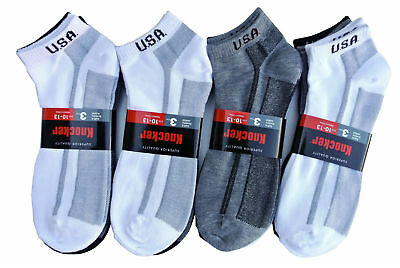 - Knocker Socks USA Low Cut Full Cushioned Sports Socks Calcetines Cortos Deportes