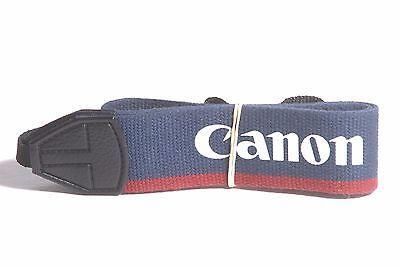 Canon EOS Genuine Navy Blue / Maroon Camera Neck Strap