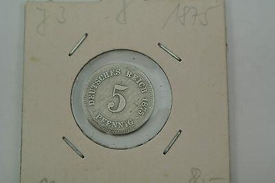 5 Pfennig 1875 J Kaiserreich................................................M240