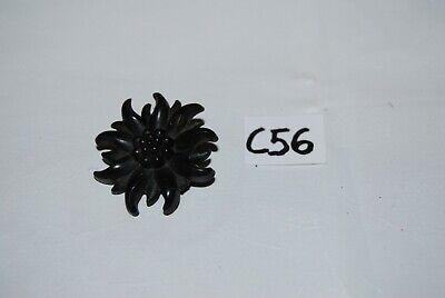 C56 Ancienne broche - fleur noire