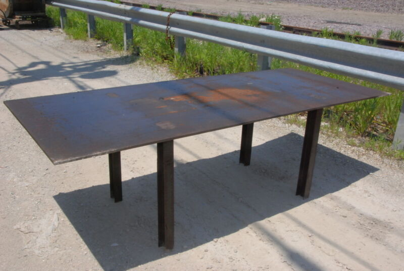 """Welding table 96 1/2*40*30,3/8""""thick INV=29611"""