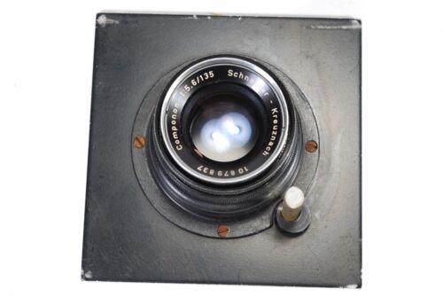 """Schneider 135mm f5.6 Componon Enlarging Lens  with Beseler 4"""" Lens Board"""