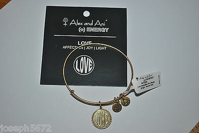Alex And Ani Expandable   Energy Bracelet Russian Gold Retired Love Nwt Rare