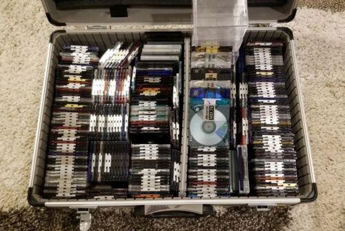 Used Lot Of 300 MiniDiscs Sony,Memorex,Maxell,Fuji 80min & 74min + Cases