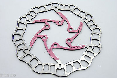 Ashima Airotor Mountain Bike Disc Brake Rotor MTB 140mm 68g Pink