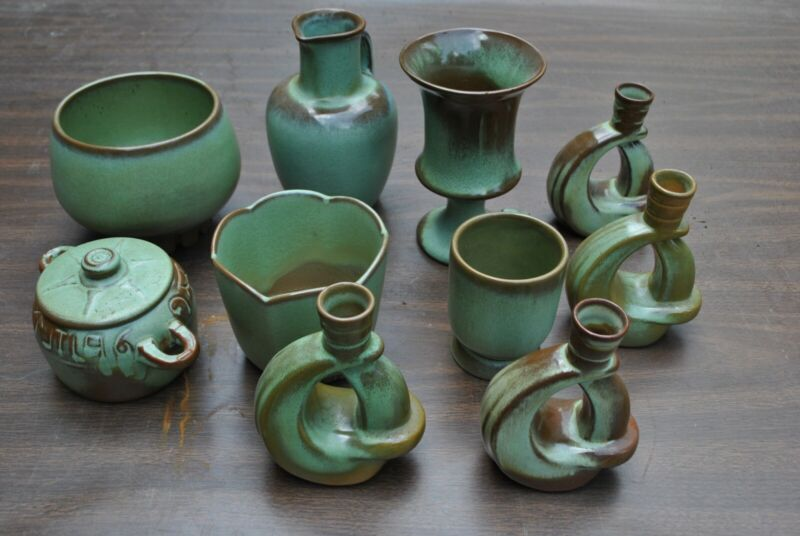 10 piece Frankoma Pottery Collection