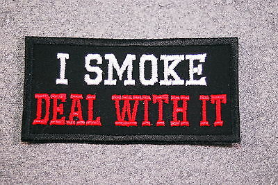 I Smoke Cigars Just To Piss You Off Funny Motorcycle MC NEW Biker Patch PAT-0882