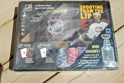 NHL POKER 100 CLAY CHIPS SEALED SET 2009 , 2 DECKS CARDS ,TIN , BEST QUOTES (Best Clay Poker Chips)