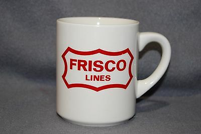 Railroad, Frisco Lines, White Ceramic Coffee Cup, Mug