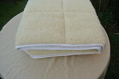 NOVITESSE Wolldecke NEU Echt Wolle 100x200 Mataratzenauflage Matratzentopper